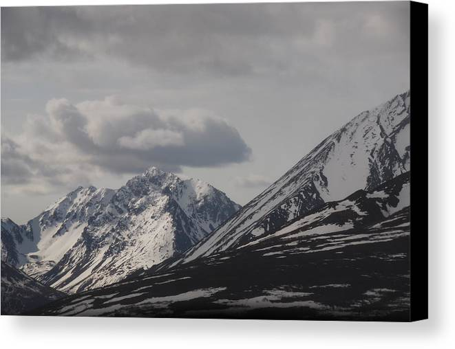 Alaska Canvas Print featuring the photograph Heavenly View 1 by Michael Gooch