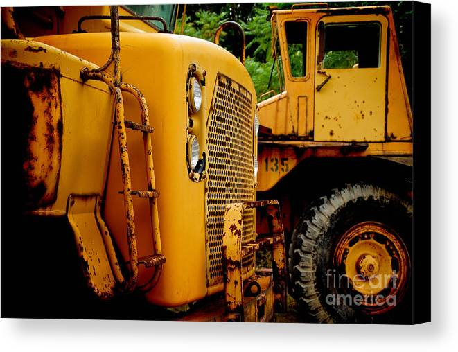 Bulldozer Canvas Print featuring the photograph Heavy Equipment by Amy Cicconi