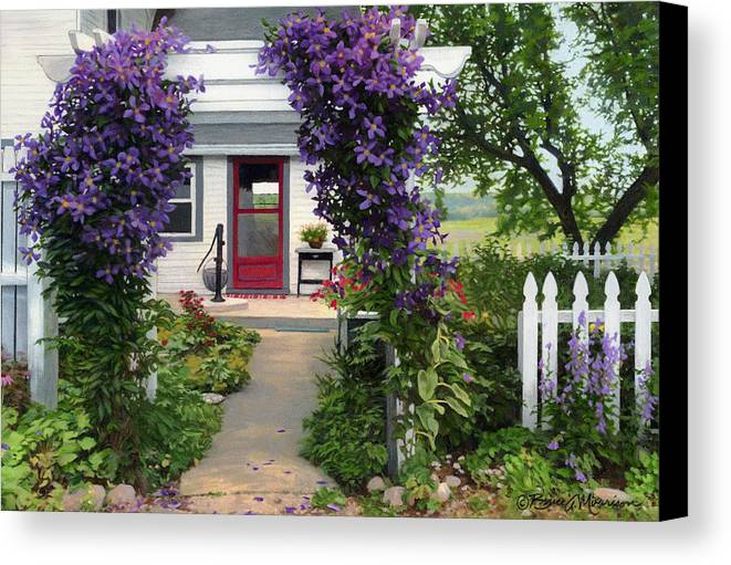 Color Pencil Canvas Print featuring the drawing Home by Bruce Morrison