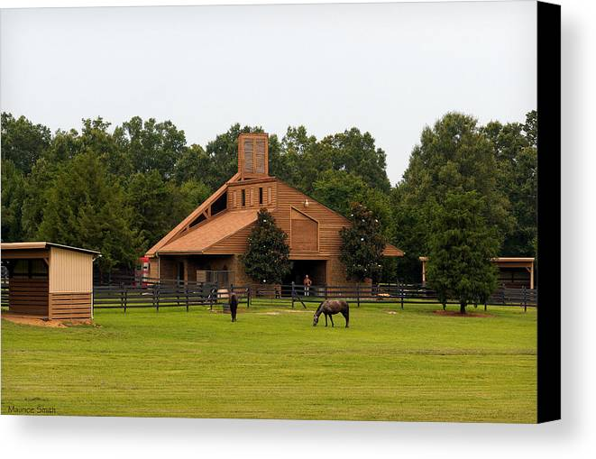 Landscape Canvas Print featuring the photograph Horse Stables 2 by Maurice Smith