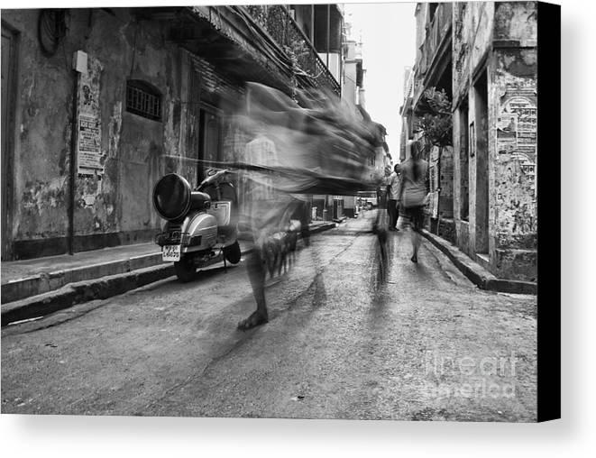 Rickshaw Canvas Print featuring the photograph Invisible Rickshaw Puller by Soumya Shankar Ghosal