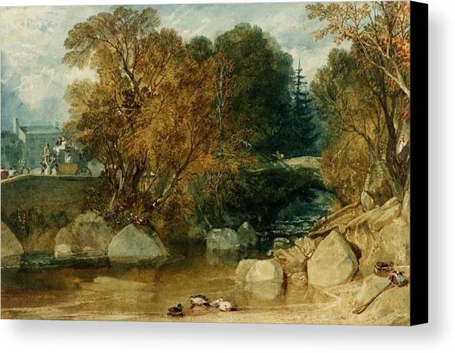 1813 Canvas Print featuring the painting Ivy Bridge by JMW Turner