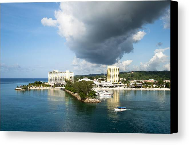 View Canvas Print featuring the photograph Jamaican Vacation by Ramunas Bruzas