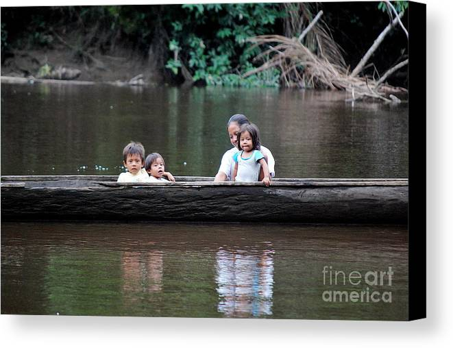 Ecuador Canvas Print featuring the photograph Jungle Family by Fabian Romero Davila