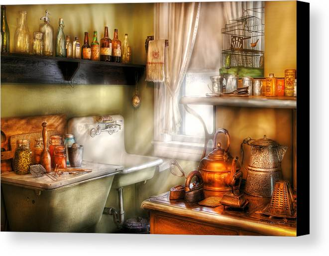Chef Canvas Print featuring the photograph Kitchen - Momma's Kitchen by Mike Savad