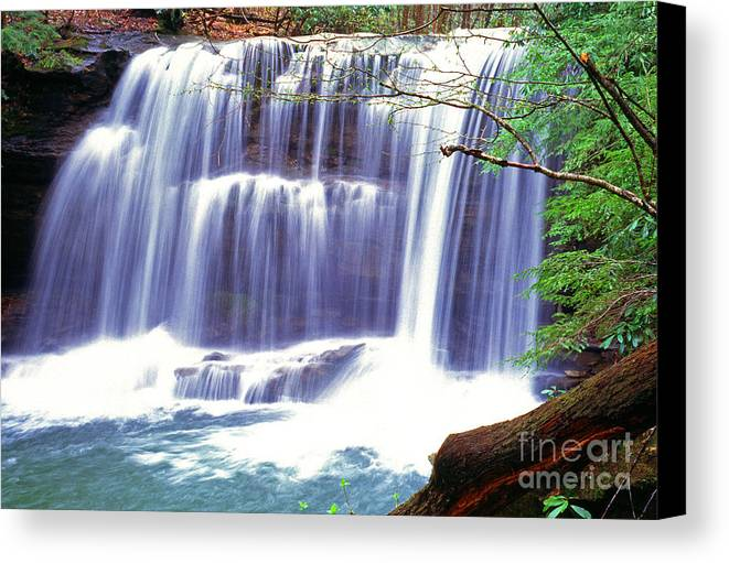 West Virginia Canvas Print featuring the photograph Leatherwood Falls by Thomas R Fletcher