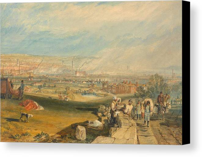 1816 Canvas Print featuring the painting Leeds by JMW Turner