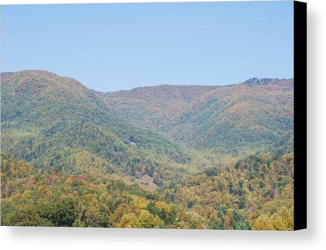 North Carolina Canvas Print featuring the photograph Maggie Valley In The Fall by Michael Gooch