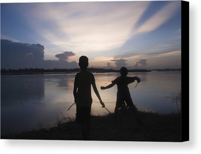 Mekong Canvas Print featuring the photograph Mekong Sunset by Anthon Jackson