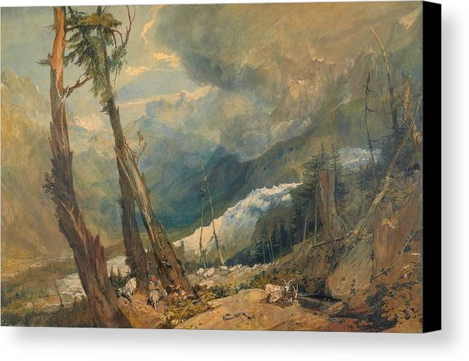 1803 Canvas Print featuring the painting Mer De Glace by JMW Turner
