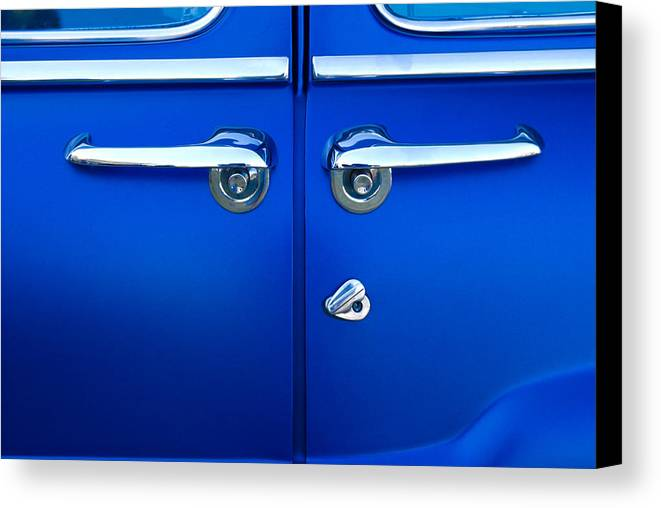 Blue Doors Canvas Print featuring the photograph Mercury Suicide by Phil 'motography' Clark