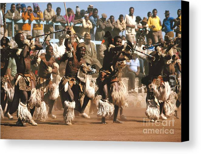 South Africa Canvas Print featuring the photograph Mine Dancers South Africa by Susan McCartney