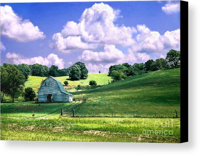 Landscape Canvas Print featuring the photograph Missouri River Valley by Steve Karol