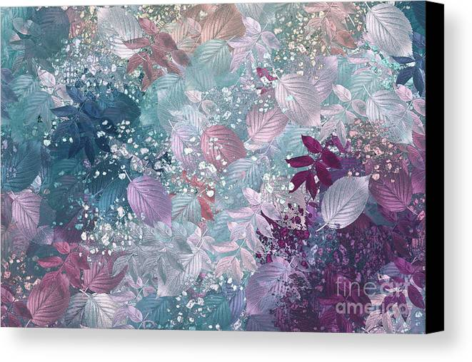 Abstract Digital Art Canvas Print featuring the digital art Naturaleaves - S1002b by Variance Collections