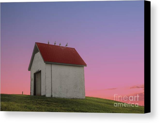 National Register Of Historic Places Canvas Print featuring the photograph Oil House by Juli Scalzi
