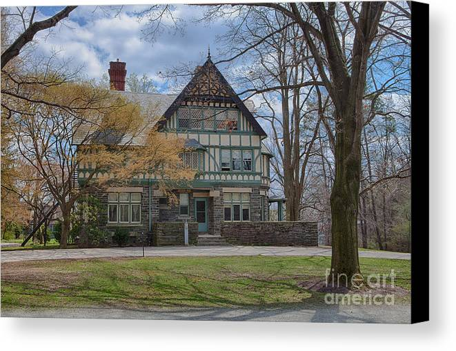 Haverford College Canvas Print featuring the photograph Old House On Haverford Campus by Kay Pickens