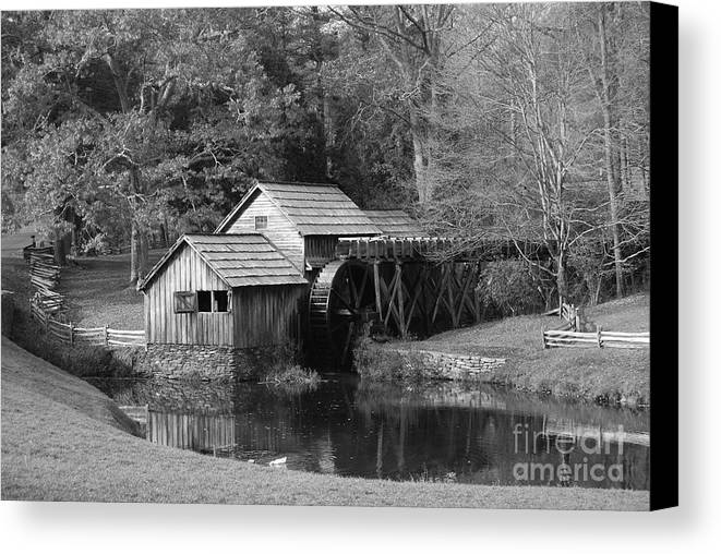 Virginia Canvas Print featuring the photograph Virginia's Old Mill by Eric Liller