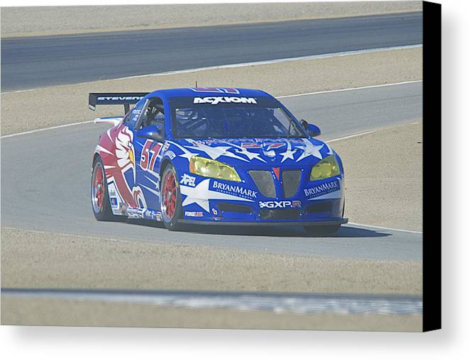 Auto Canvas Print featuring the photograph Pontiac Gt At Turn 2 by Dave Koontz