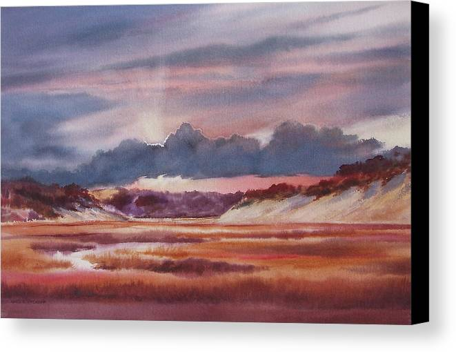 Dramatic Canvas Print featuring the painting Provincelands by Karol Wyckoff