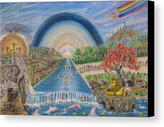 Christian Canvas Print featuring the mixed media River Of Life by Neal David Reilly