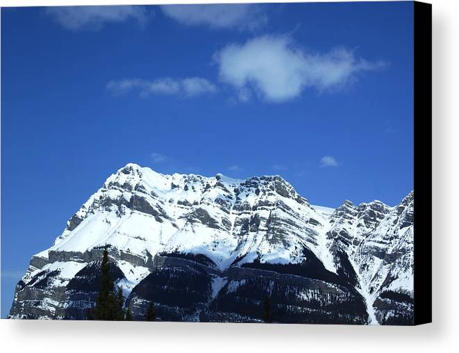 Landascape Canvas Print featuring the photograph Rocky Mountains 2 by Jorge Rueda