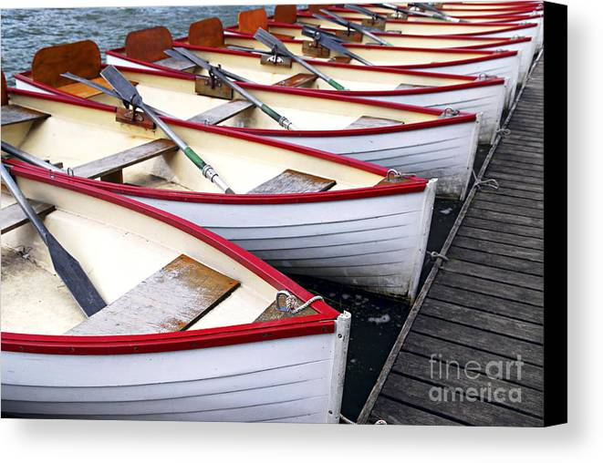 Boat Canvas Print featuring the photograph Rowboats by Elena Elisseeva