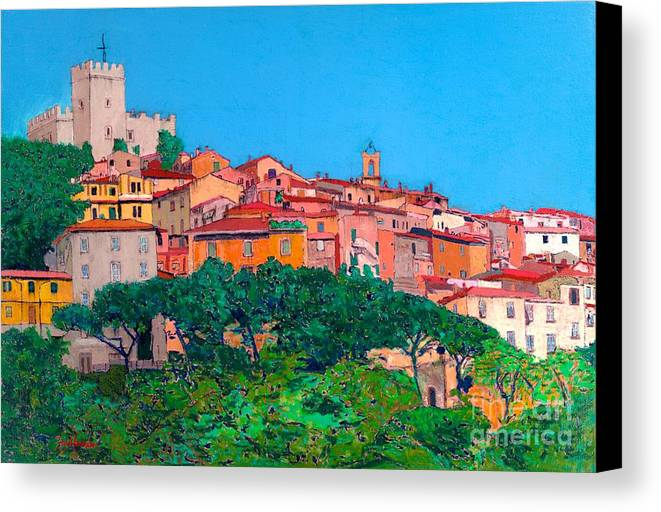 Landscape Canvas Print featuring the painting Saturina by Allan P Friedlander