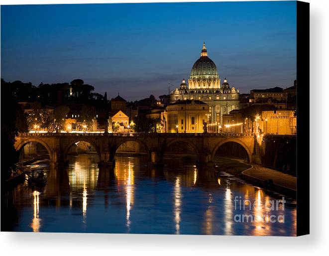 Architecture Canvas Print featuring the photograph St. Peters Basilica by David Davis
