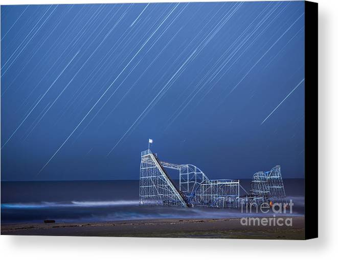 Starjet Canvas Print featuring the photograph Starjet Under The Stars by Michael Ver Sprill