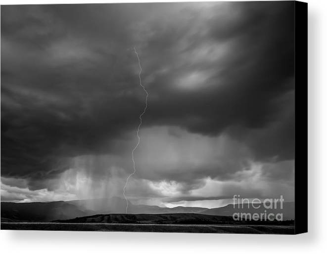 Lightning Canvas Print featuring the photograph Storm Over Kelly by Brad Schwarm