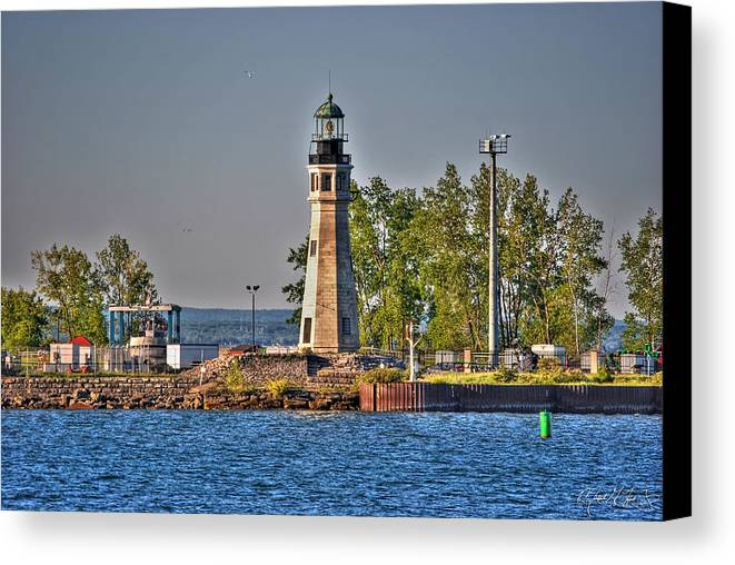 Lighthouse Canvas Print featuring the photograph Summer Day View Of The Lighthouse by Michael Frank Jr