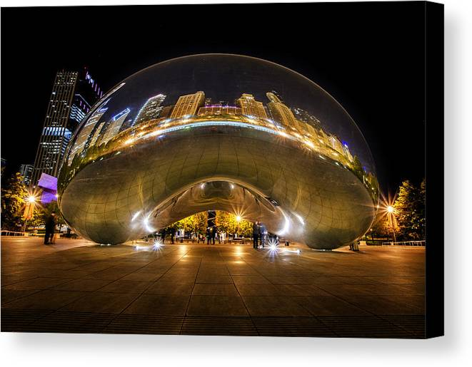 The Bean Canvas Print featuring the photograph The Bean Chicago by Kevin Whitworth