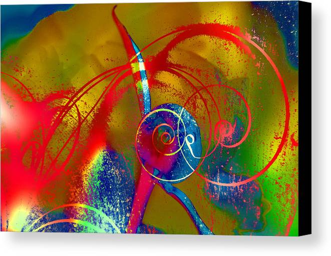 Abstract Canvas Print featuring the photograph The Bud by Jeff Burgess
