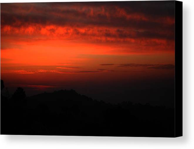 Twilight Canvas Print featuring the photograph Twilight- End Of The Day- Viator's Agonism by Vijinder Singh