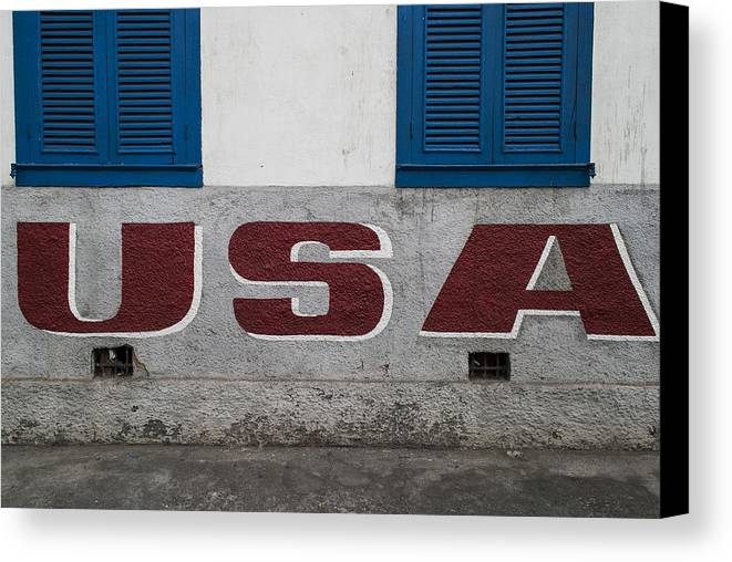 Usa Canvas Print featuring the photograph USA by Santiago Tomas Gutiez