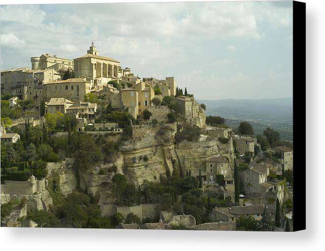 Gordes Canvas Print featuring the photograph View Of Gordes by M N
