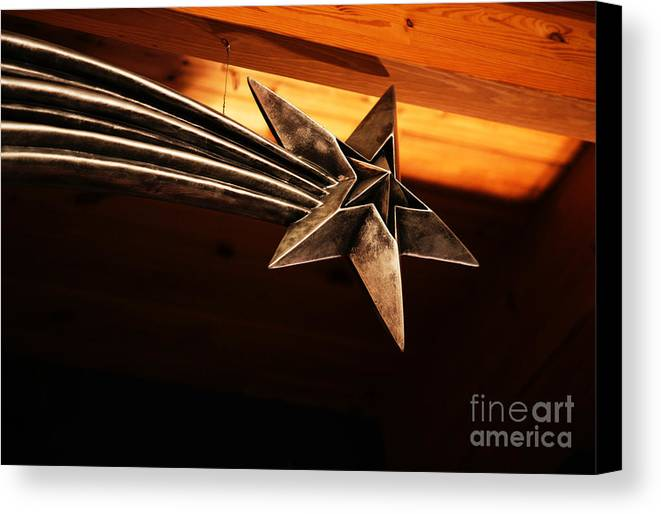 Star Canvas Print featuring the photograph Wish Upon A Shooting Star by Linda Shafer