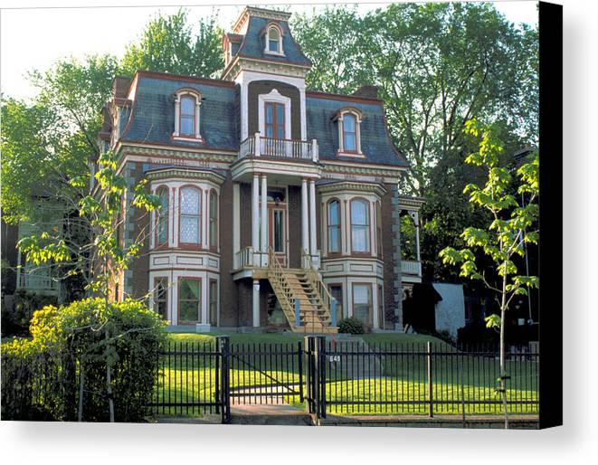 Victorian House Canvas Print featuring the photograph Gracious Victorian House In Montreal by Carl Purcell