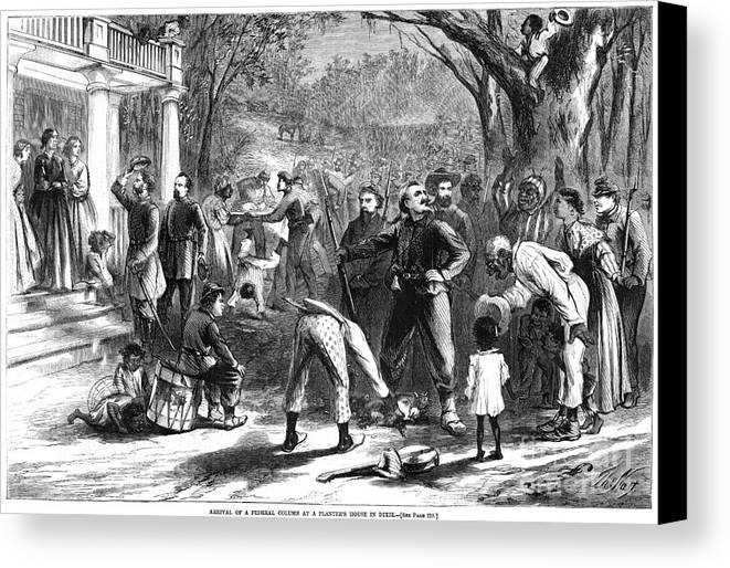 1863 Canvas Print featuring the photograph Emancipation, 1863 by Granger
