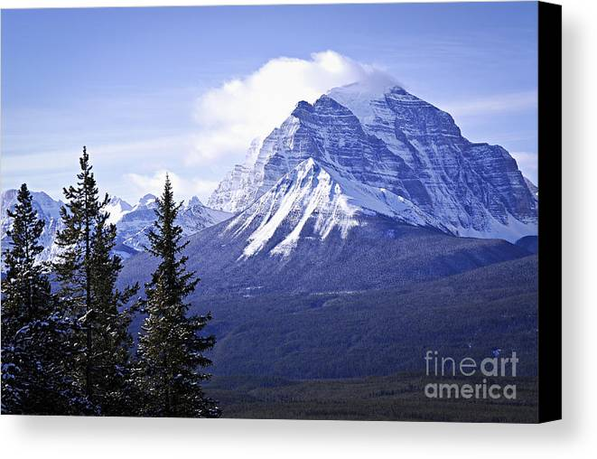 Mountain Canvas Print featuring the photograph Mountain Landscape by Elena Elisseeva