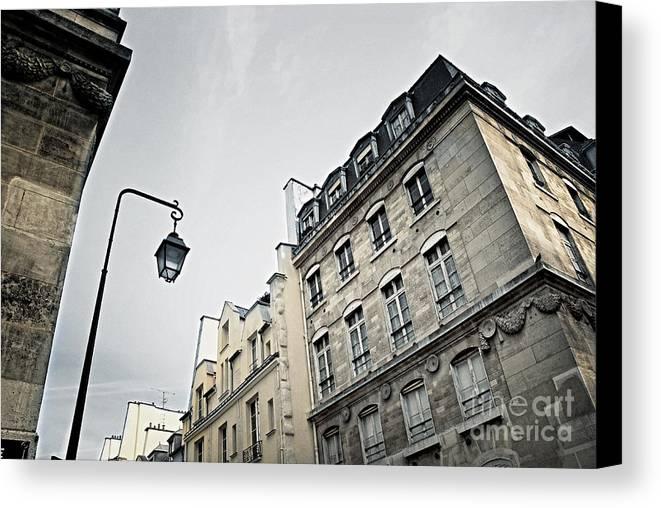 Paris Canvas Print featuring the photograph Paris Street by Elena Elisseeva