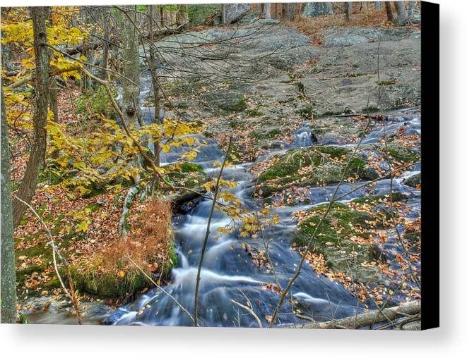 Cunningham Falls Canvas Print featuring the photograph Big Hunting Creek Upstream From Cunningham Falls by Mark Dodd