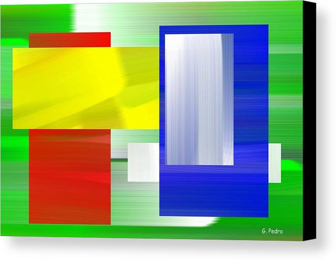 Abstract Canvas Print featuring the painting Abstract Number One by George Pedro
