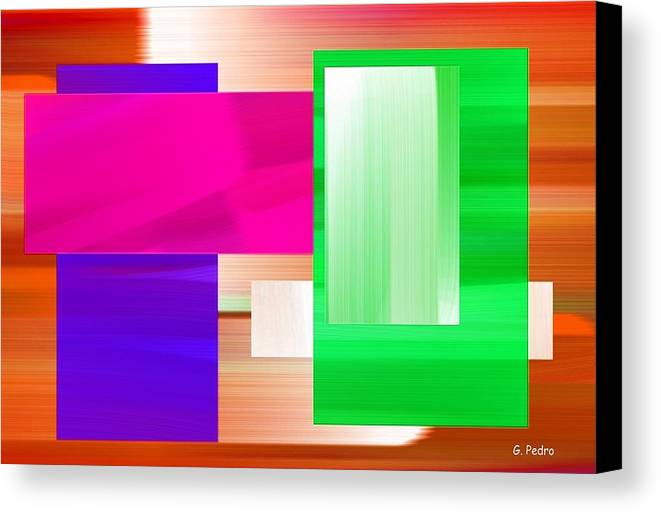 Abstract Canvas Print featuring the painting Abstract Number Three by George Pedro