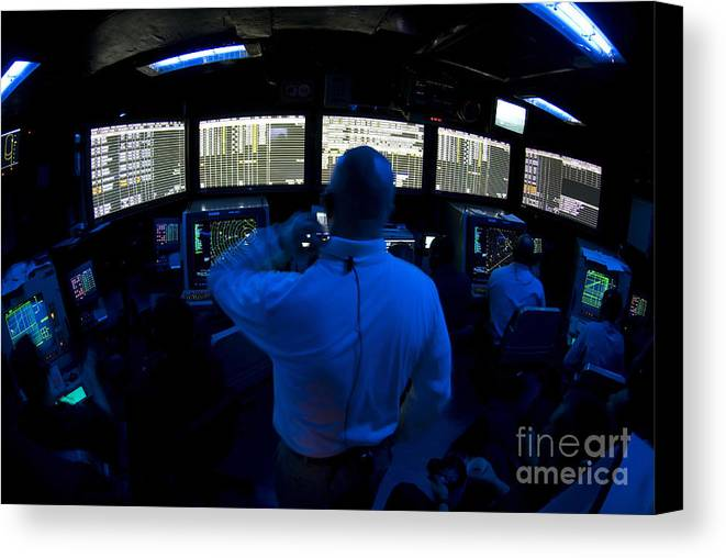 Adults Only Canvas Print featuring the photograph Air Traffic Controller Watches by Stocktrek Images