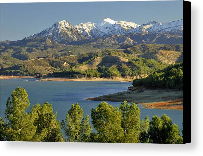 Lake Canvas Print featuring the photograph Bermejales Lake by Guido Montanes Castillo