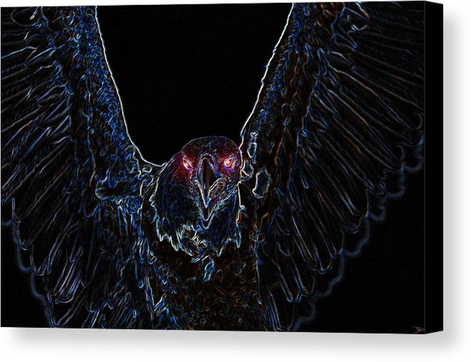 Art Canvas Print featuring the painting Black Eagle Vision by David Lee Thompson