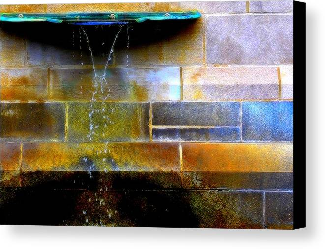 Fountain Canvas Print featuring the photograph Blue Green by Marysue Ryan