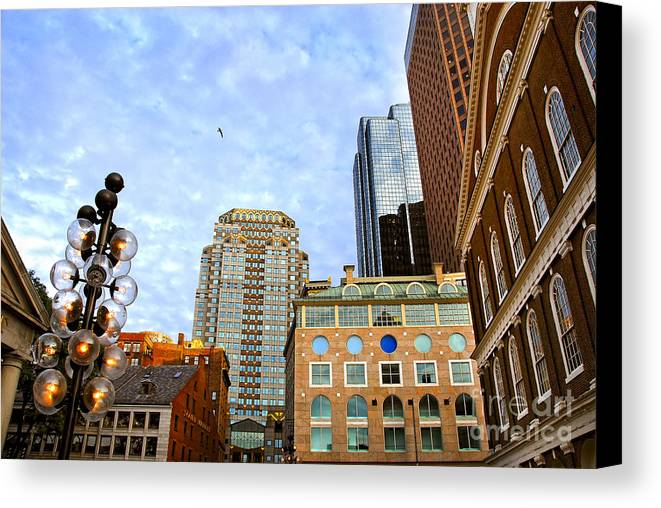 Boston Canvas Print featuring the photograph Boston Downtown by Elena Elisseeva