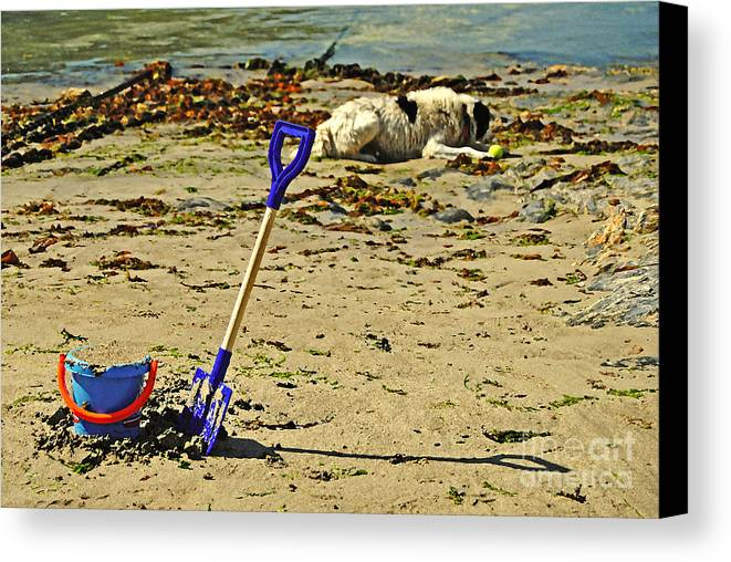 Bucket Canvas Print featuring the photograph Bucket And Spade by Rob Hawkins